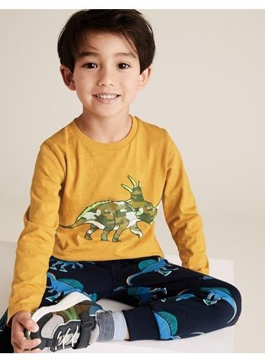 Marks & Spencer Dinozor Desenli Bluz Sarı